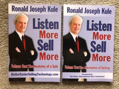 https://ronkulebooks.com/products/two-volume-set-of-listen-more-sell-more-sales-books